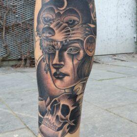 onderbeen tattoo